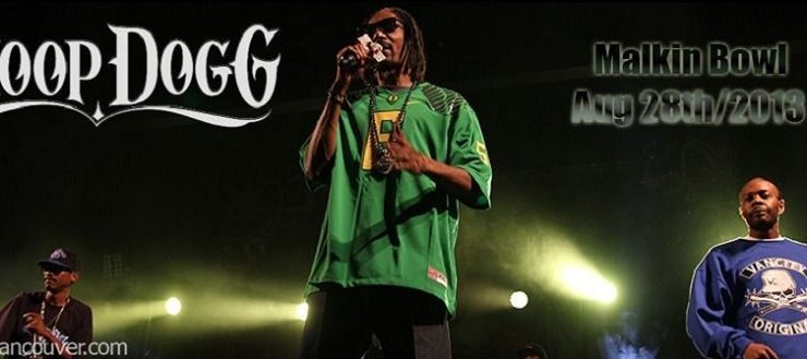 Snoop at The Malkin Bowl Aug 28th