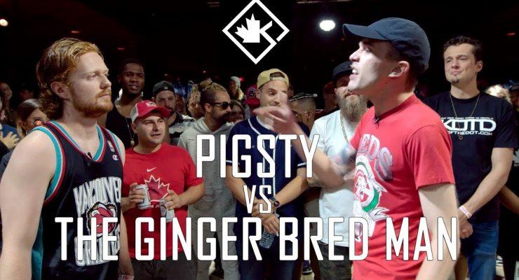 KOTD – Rap Battle – Pigsty vs The Ginger Bred Man | #GZ